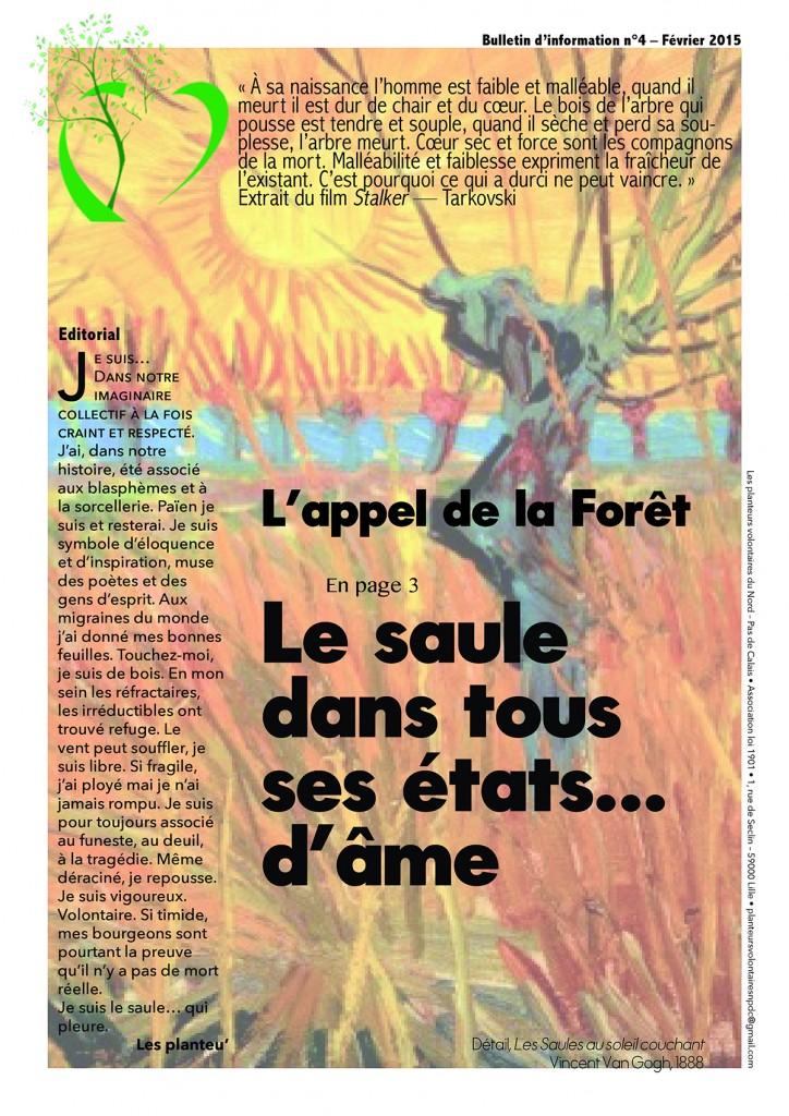 L'appel de la forêt – janvier/février 2015