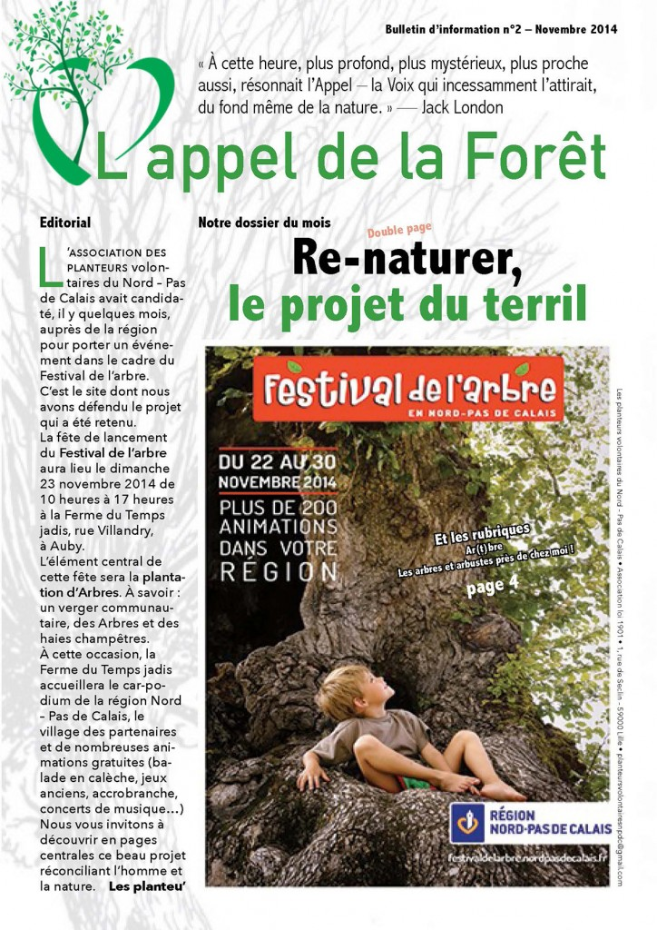 L'appel de la Forêt – novembre 2014