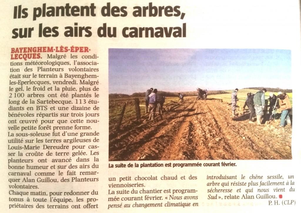 article Voix du Nord – 23/01/2015