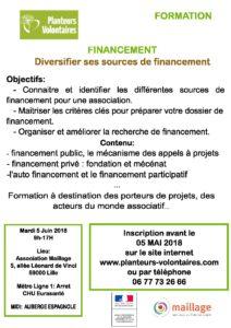Formations – Diversifier ses sources de financement – Mardi 5 Juin 9h 17h