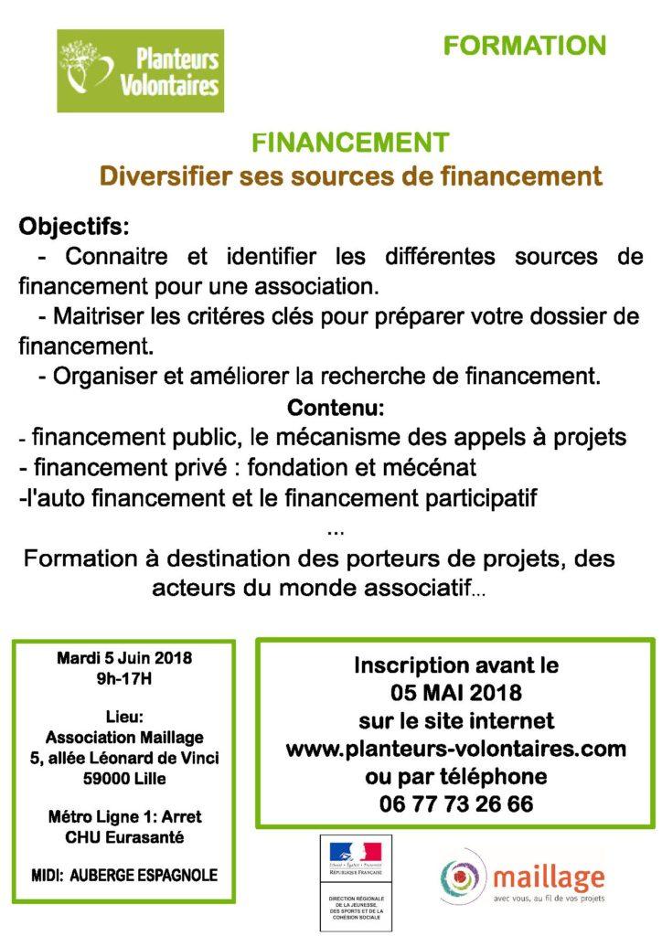 Formation – Diversifier ses sources de financement – Mardi 5 Juin 9h 17h