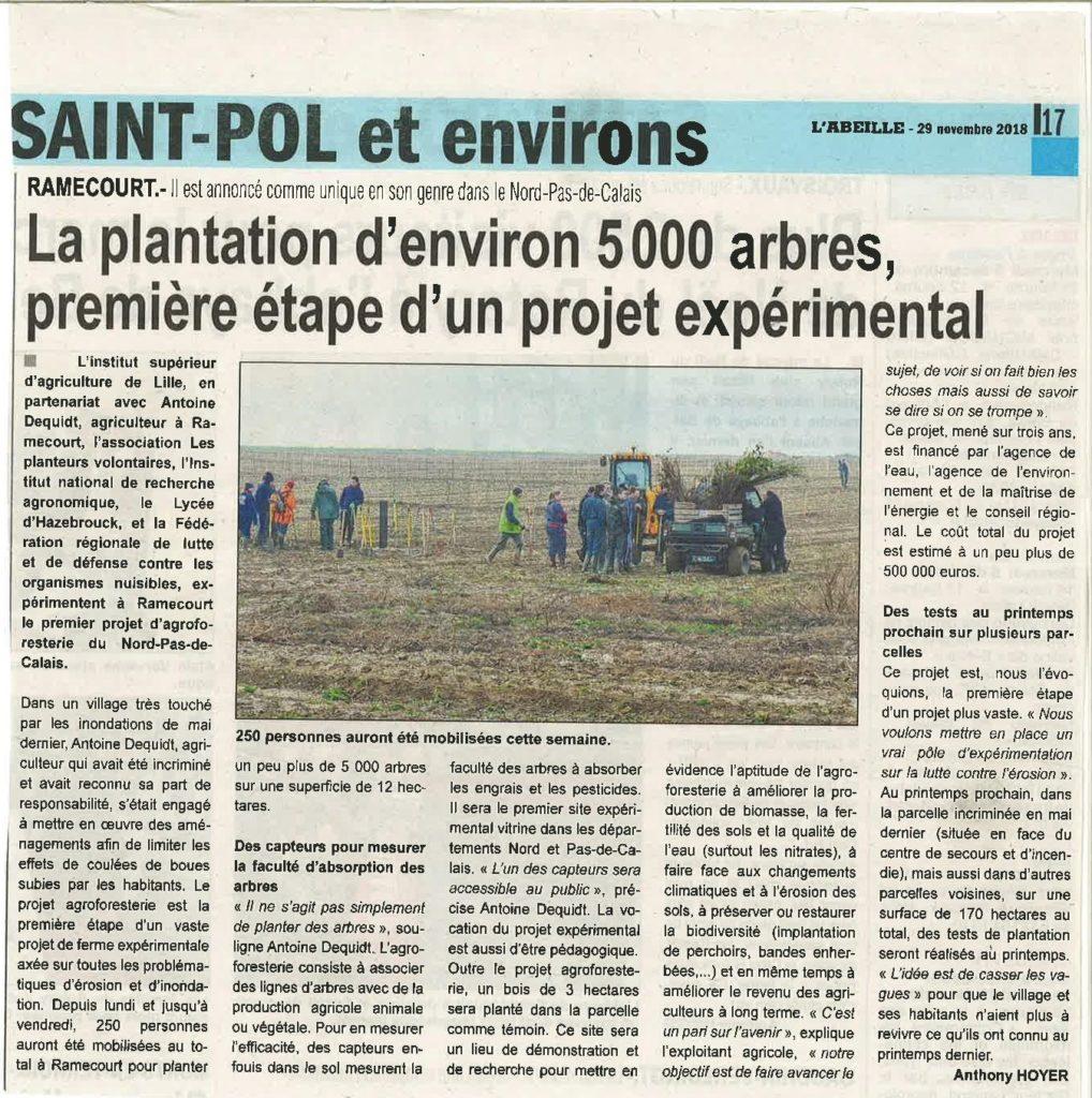 Le projet expérimental de Ramecourt