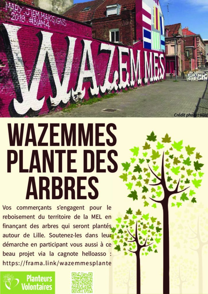 Wazemmes plante des arbres !
